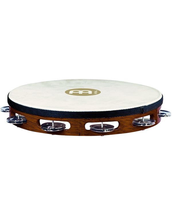 Meinl Traditional Goat Skin Wood Tambourine African Brown