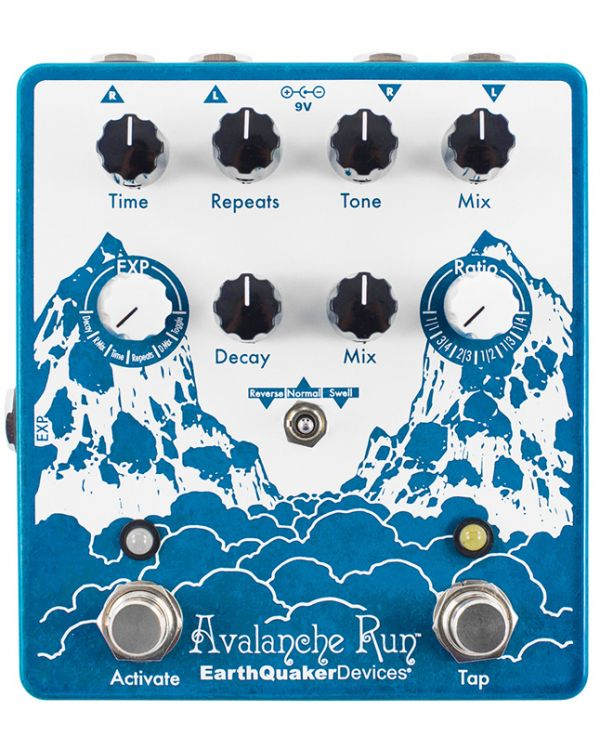 Earthquaker Devices Avalanche Run V2 Reverb and Delay Pedal