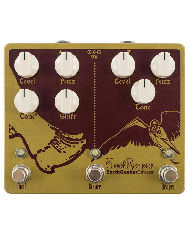 Earthquaker Devices Hoof Reaper V2 Dual Fuzz and Octave Pedal