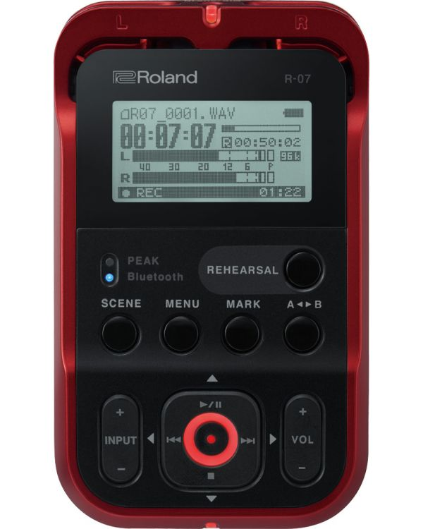 Roland R07 Portable Audio Recorder Red
