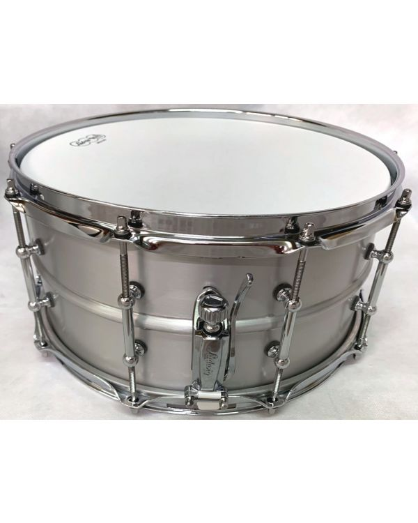 """Ludwig Tube Lug 14 x 6.5"""" Snare Drum, Brushed Aluminium Acrolite"""
