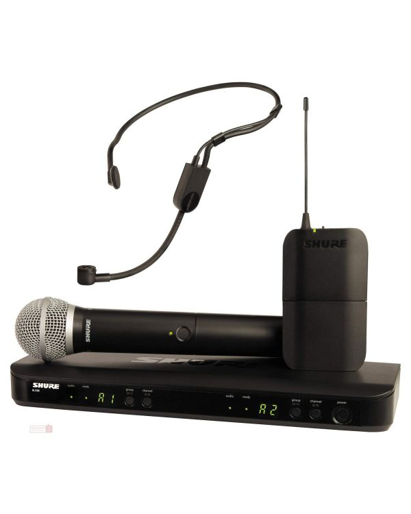 Shure BLX1288UK-P31 Dual Headset and Handheld Wireless Mic System