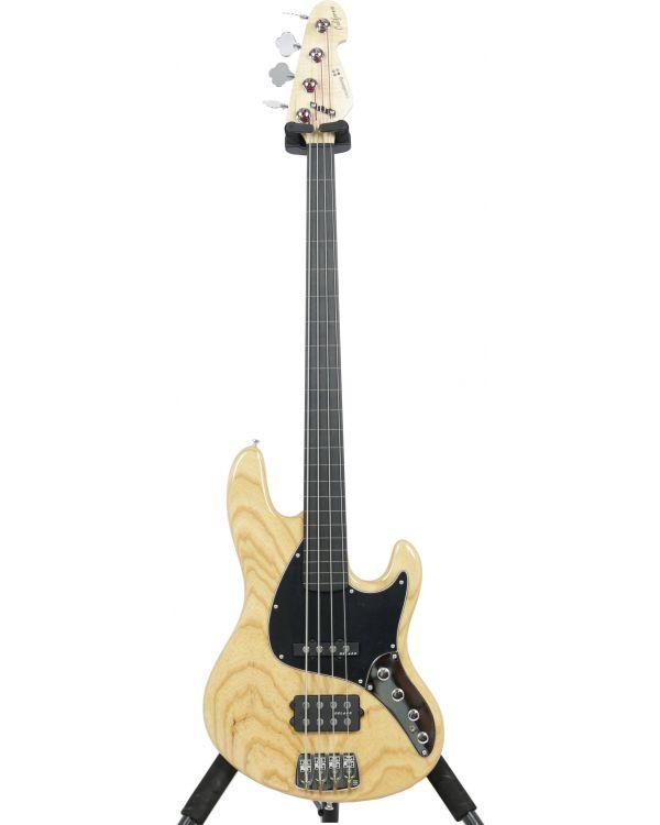 Sandberg California II TM 4-S Natural Fretless Bass Guitar