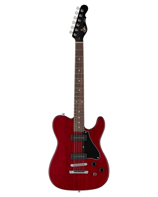 G&L ASAT Junior II Brazilian Cherry FB, Trans Red