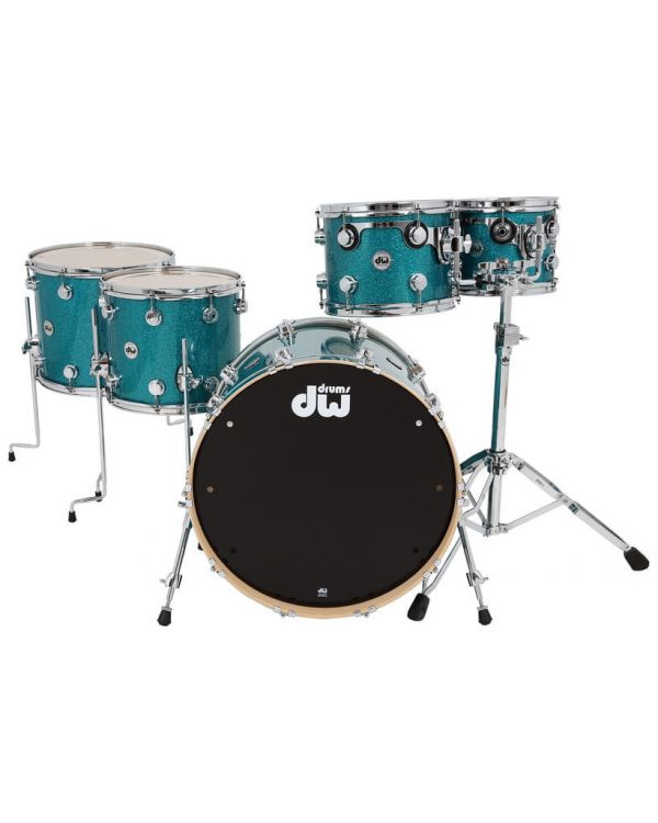 DW Collectors Series Kit Maple Shell Teal Glass