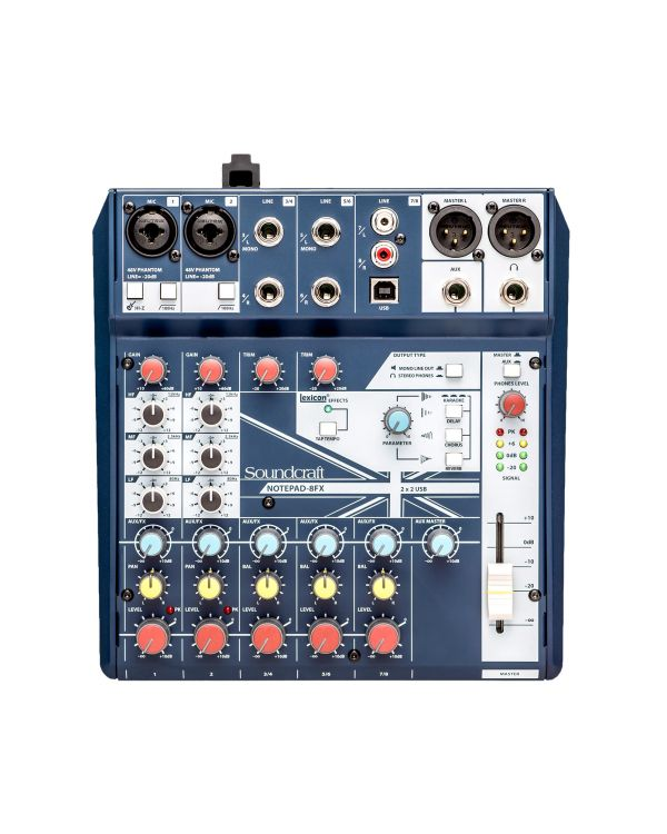 Soundcraft Notepad 8-FX Mixing Desk with USB and FX