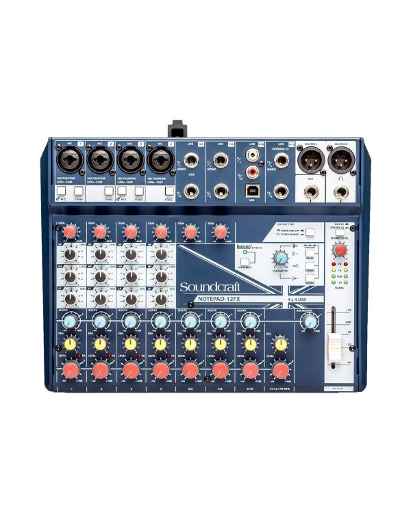 Soundcraft Notepad 12-FX Mixing Desk with USB and FX