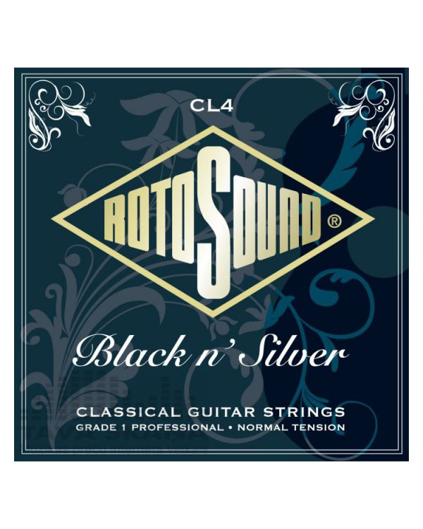 Rotosound CL4 Black N Silver Classical Guitar Strings 28-45