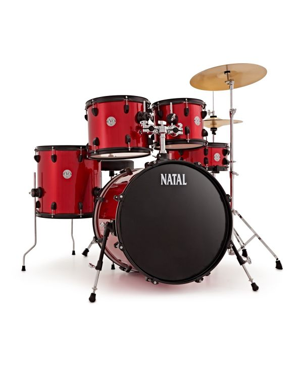 """Natal EVO Fusion 20"""" Drum Kit with Hardware & Cymbals in Red"""