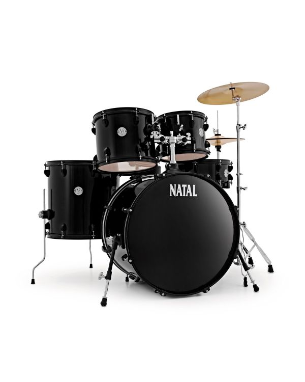 """Natal EVO 22"""" Drum Kit with Hardware & Cymbals in Black"""