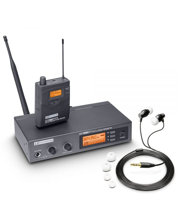 LD Systems MEI 1000 G2 Wireless In-Ear Monitoring System ISM UK Version