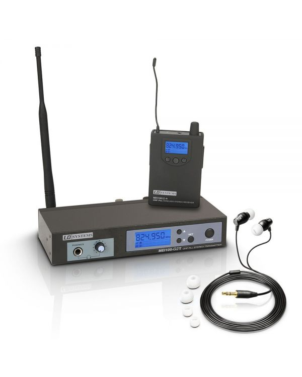 LD Systems MEI 100 G2 Wireless In-Ear Monitoring System ISM UK Version