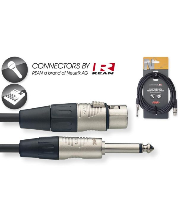 Stagg NMC6XPR Female XLR to Mono 6.3mm Jack Cable