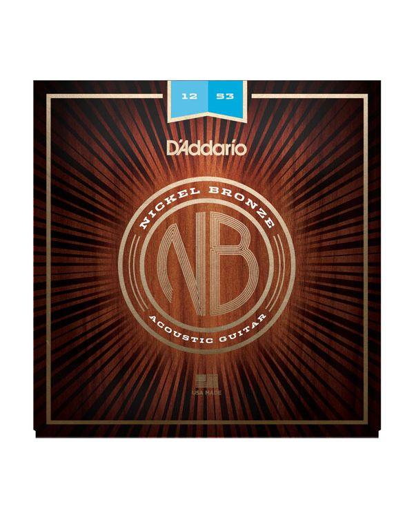 D'Addario NB1253 Nickel Bronze Acoustic Guitar Strings,Light 12-53