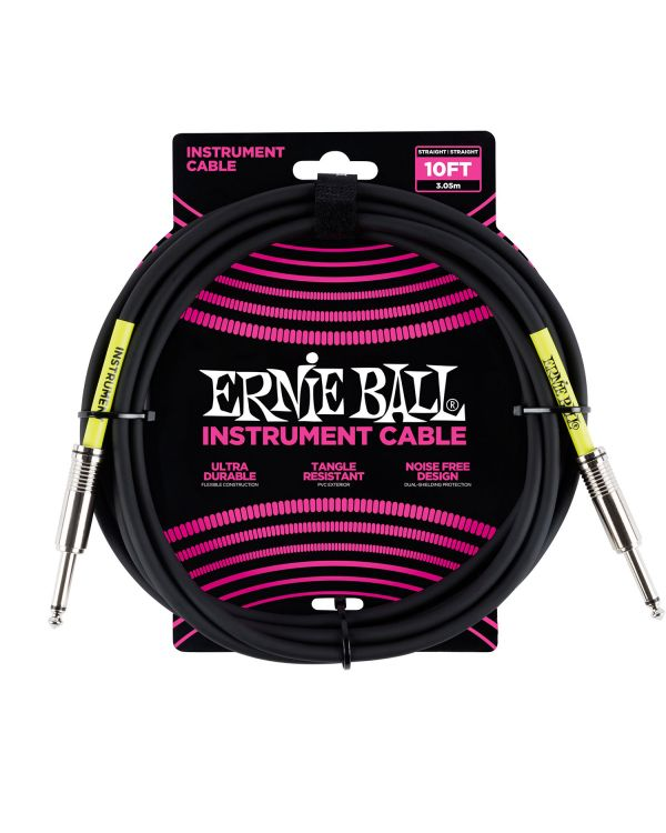 Ernie Ball 6048 3m 10ft Instrument Cable Black S-s