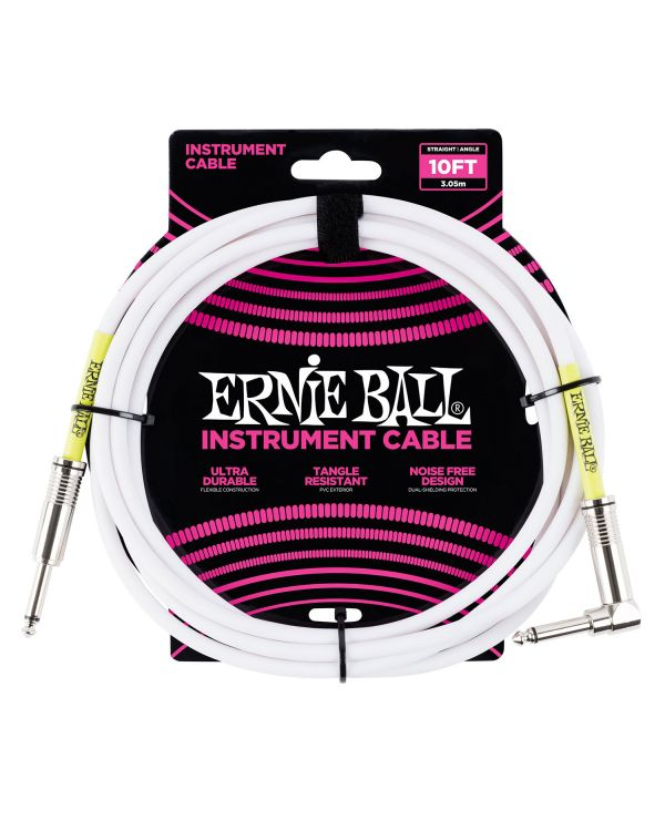 Ernie Ball 6049 3m 10ft Instrument Cable White S-a