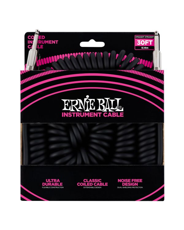 Ernie Ball 6044 9m / 30ft Instrument Coil Cable Black