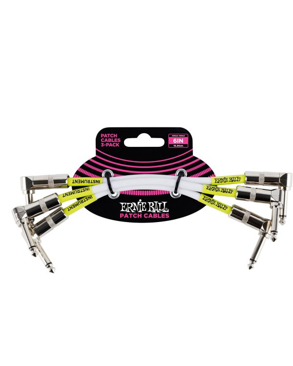 Ernie Ball Patch Cable White 6 X 3