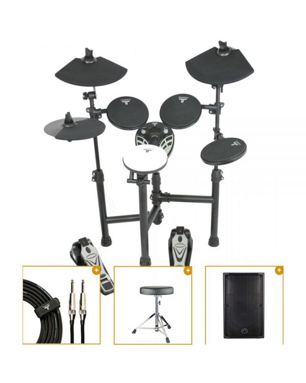 TourTech TT-12S Electronic Drum Kit with Monitor Pack
