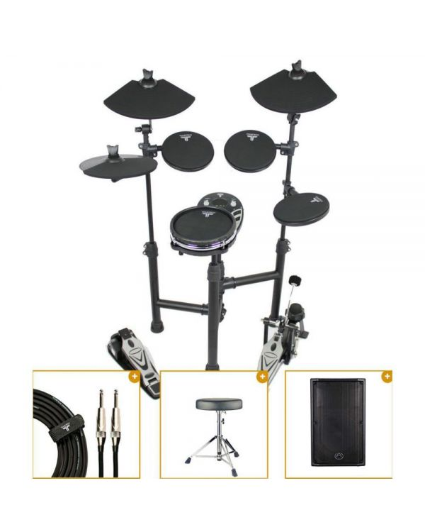 TourTech TT-12SM Electronic Mesh Snare Drum Kit with Monitor