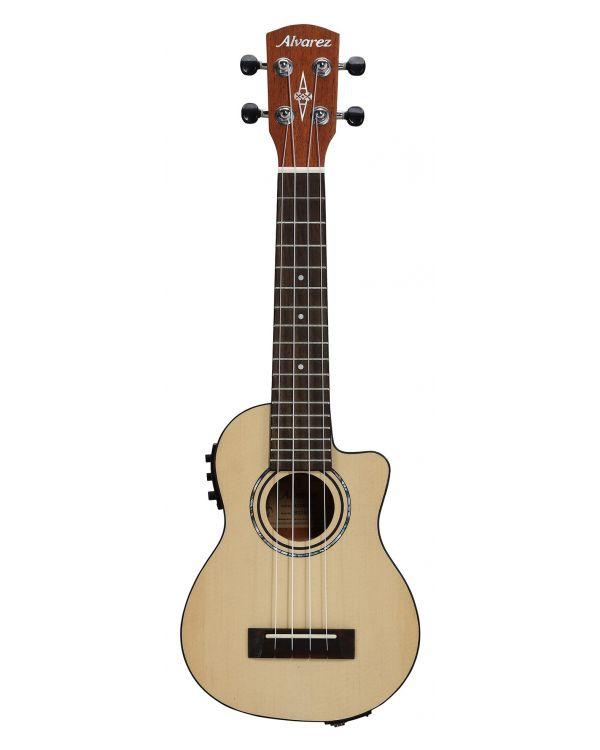 Alvarez RU26SCE Soprano Ukulele Electro Acoustic Natural Satin