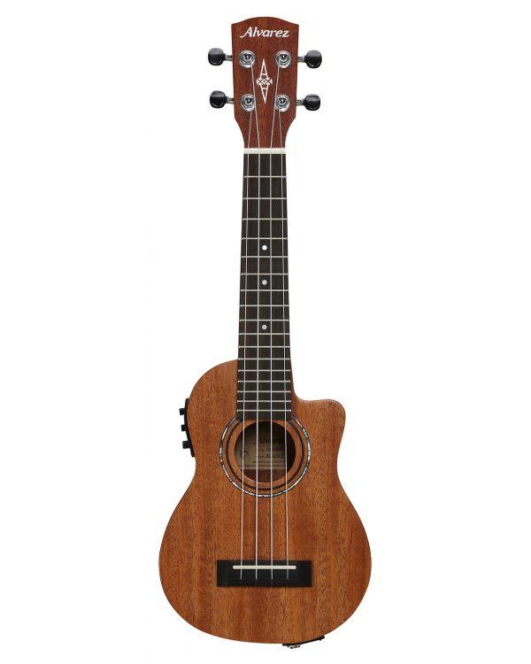 Alvarez RU22SCE Soprano Ukulele Electro Acoustic Natural Satin