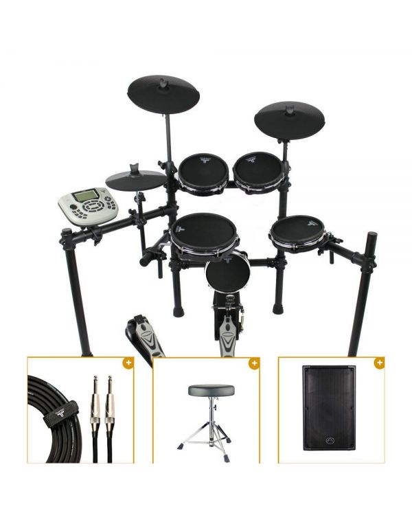 TourTech TT-22M Mesh Electronic Drum Kit with Monitor