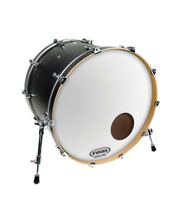 "Evans EQ3 18"" Resonant Coated White Bass Drum Head"
