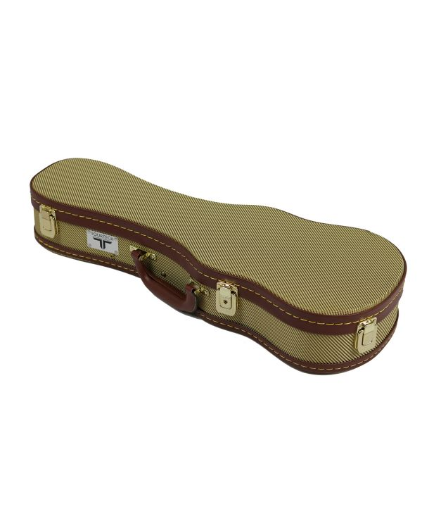 TOURTECH Gold Tweed Soprano Ukulele Case, 21""