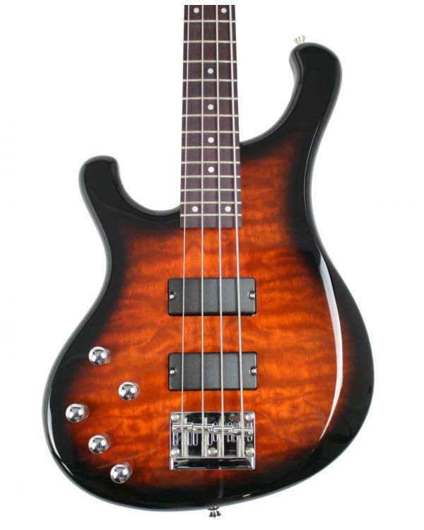 Eastcoast B210LH Left Handed Bass Guitar, 2 Tone Sunburst