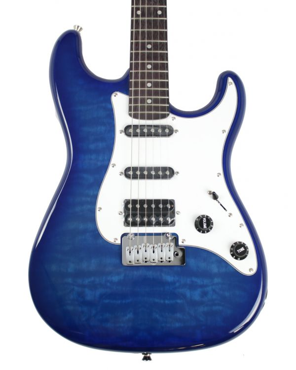 Eastcoast DT230 Electric Guitar, Blue Quilt