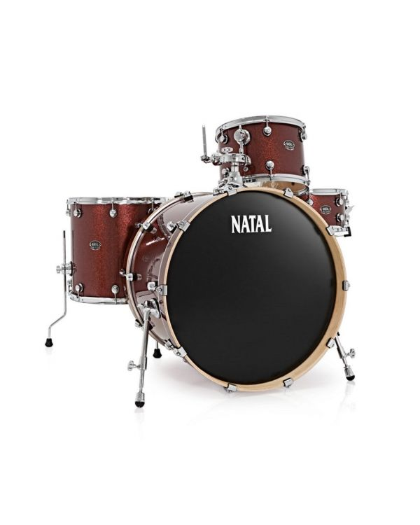 Natal Arcadia U24 4-Piece Rock Red Sparkle Shell Pack