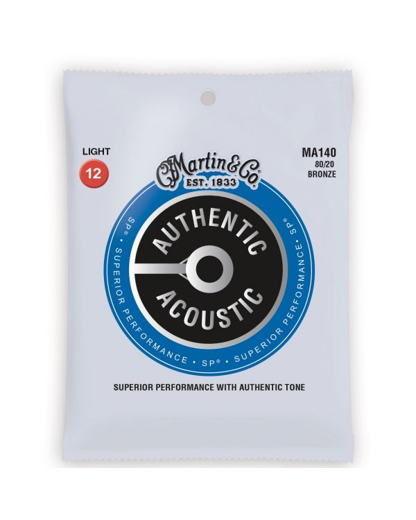 Martin Authentic Acoustic SP 80/20 Bronze Light Guitar Strings