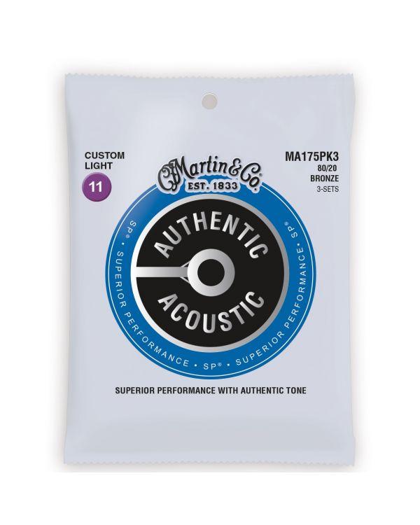 Martin Acoustic SP 80/20 Bronze Custom Light Guitar Strings (3-Pack)