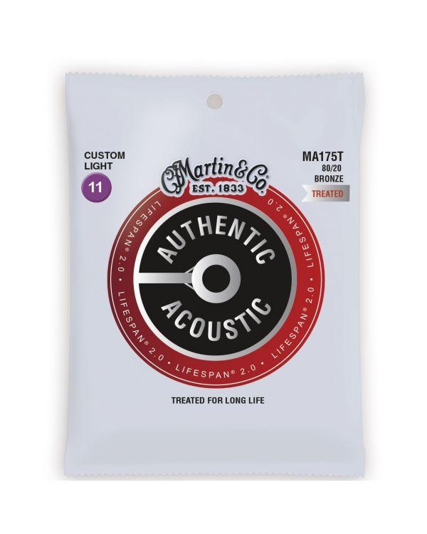 Martin Authentic Acoustic Lifespan 2.0 80/20 Bronze Custom Light Guitar Strings