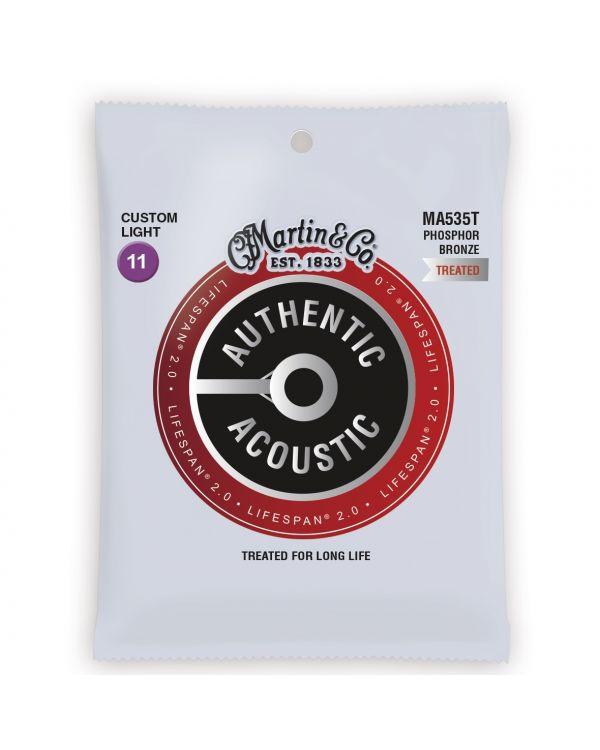 Martin Authentic Acoustic Lifespan 2.0 Phosphor Bronze Custom Light Guitar Strings