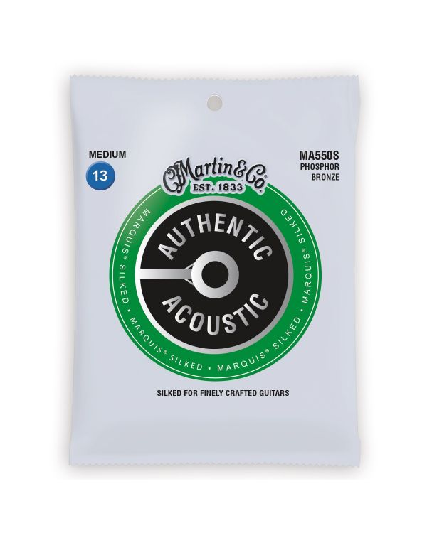 Martin Authentic Acoustic Marquis Silked Medium Guitar Strings