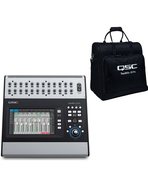 QSC Touchmix 30 Bundle with Tote Bag Bundle