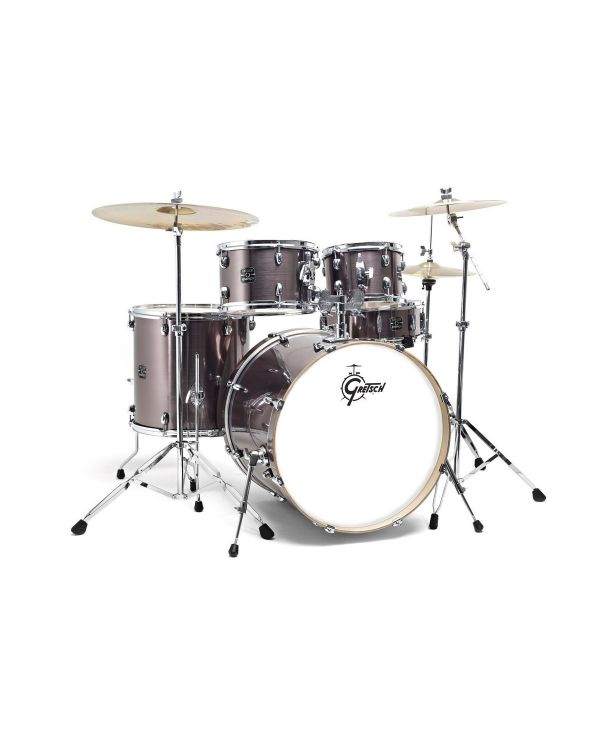 Gretsch Energy 10/12/16/22 Grey Steel Drum Kit w/Hardware and Cymbals