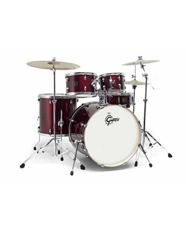 Gretsch Energy 10/12/16/22 Wine Red Drum Kit w/Hardware and Cymbals