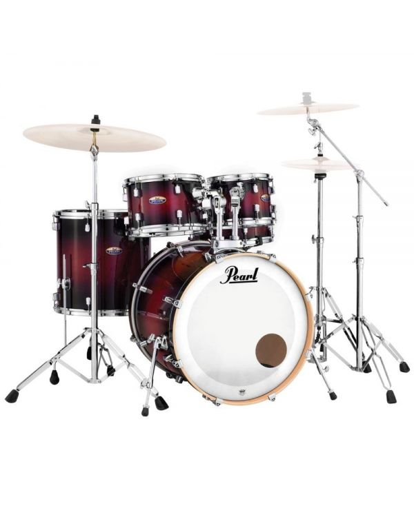 Pearl Decade Maple 22/10/12/16/14S Gloss Deep Red Burst Drum Kit w/ Stands