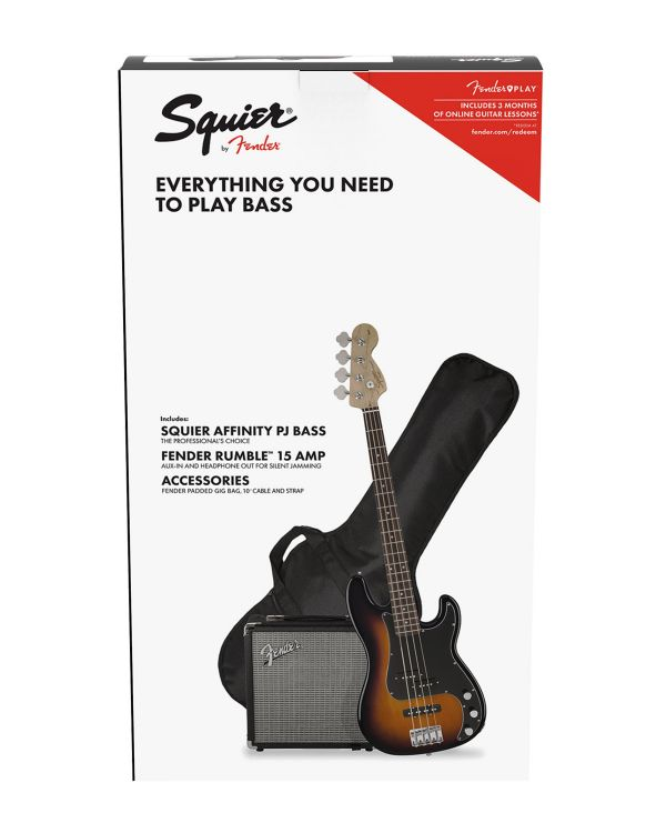 Squier Affinity Precision Bass PJ  Pack Brown Sunburst with Gig Bag