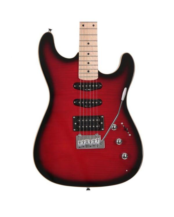 Eastcoast GS500 HSS Electric Guitar, Redburst