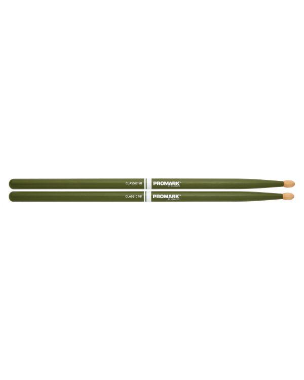 Promark Classic 5B Green Drumsticks