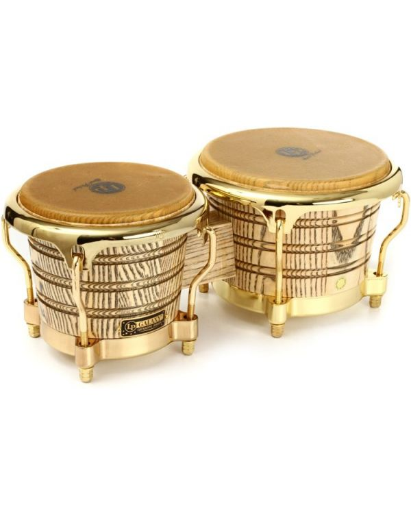 Latin Percussion Giovanni Galaxy Series Bongos Natural Gold