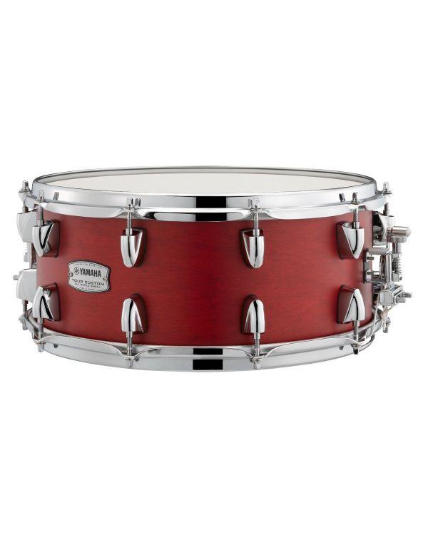 """Yamaha Tour Custom 14"""" x 5.5"""" Snare Drum Candy Apple Satin"""