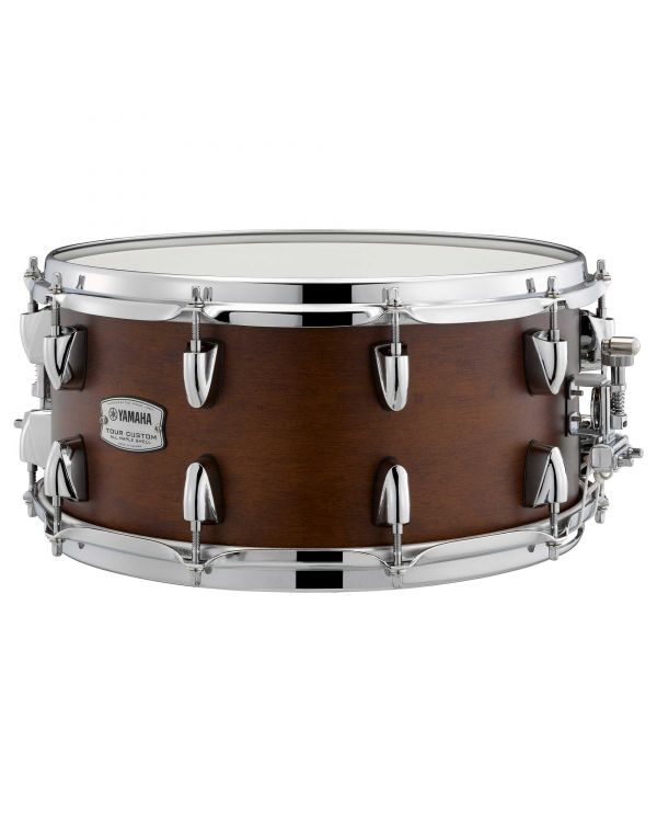 """Yamaha Tour Custom 14"""" x 6.5"""" Snare Drum Chocolate Satin"""