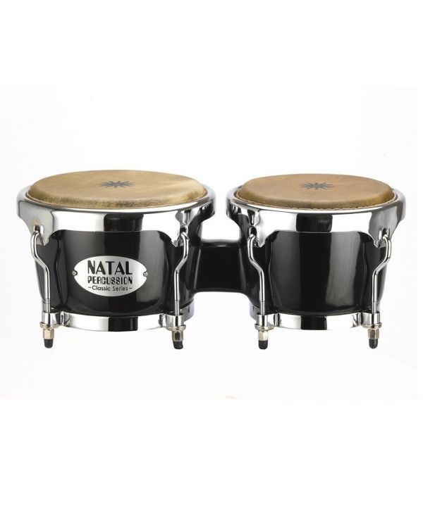 Natal Fuego Series Siam Oak Wood Bongos in Black Gloss