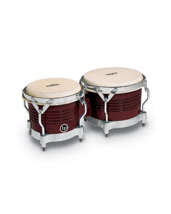 Latin Percussion Matador Series Almond Brown Wood Bongos