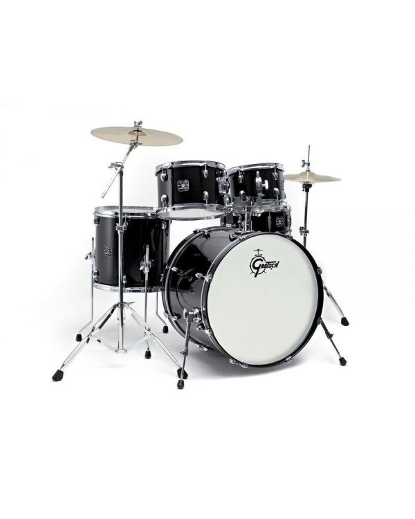 Gretsch Energy 10/12/16/20 Black Drum Kit w/Hardware and Cymbals
